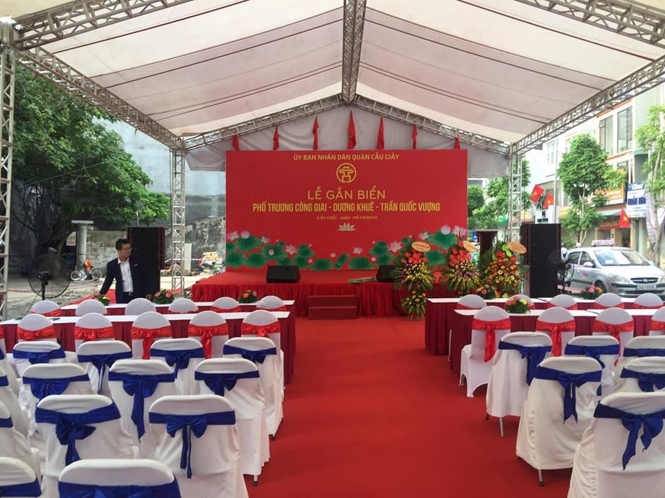 Âm thanh cho lễ khai chương số lương người từ 500 - 1000 người
